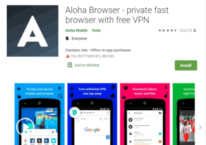 Aloha Browser for PC