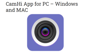 CamHi App for PC
