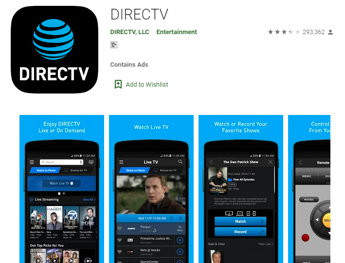 DirecTV App for Windows