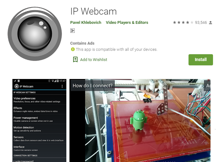 IP Webcam For PC