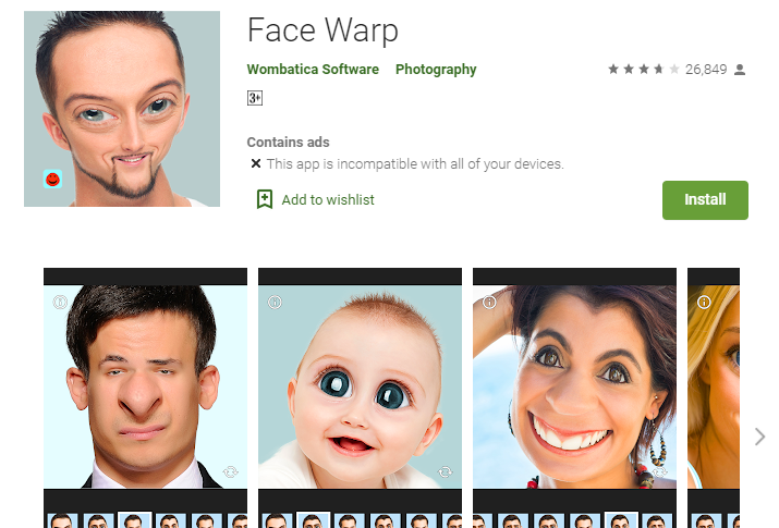Face Warp for PC