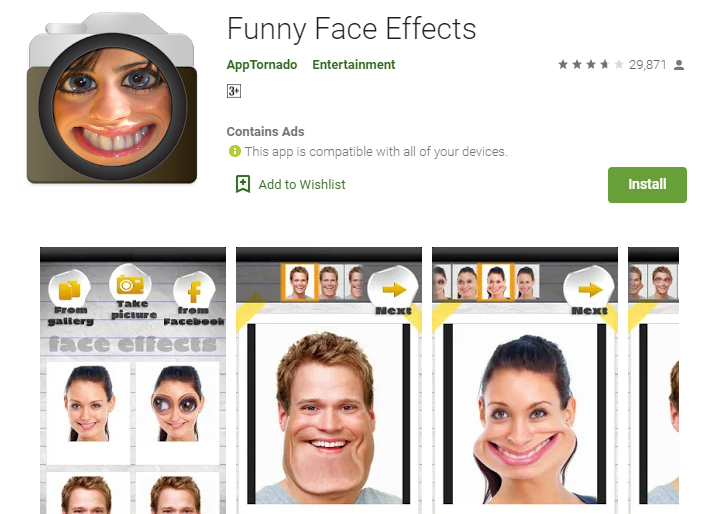 Funny Face Apps Free Download for Android
