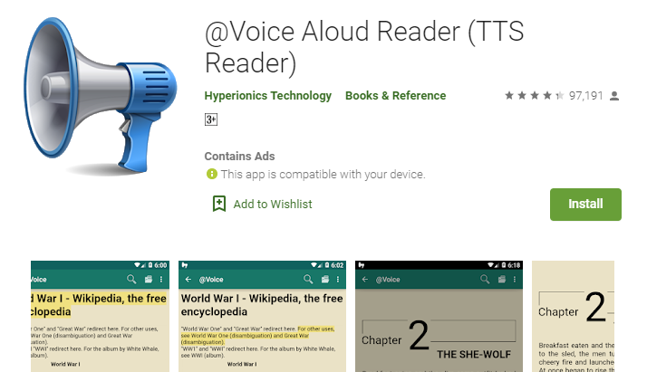Voice Aloud Reader for PC