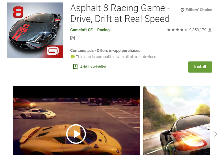 Asphalt 8 Airborne for PC