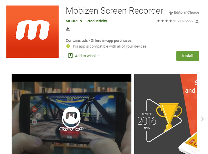 Mobizen For Pc