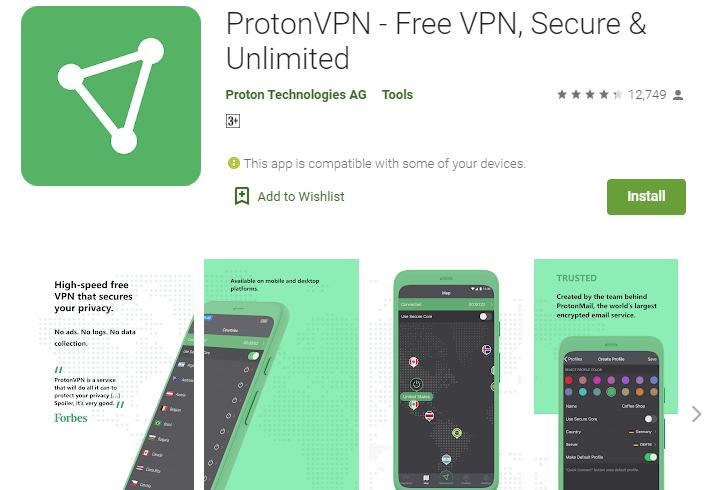 ProtonVPN Free