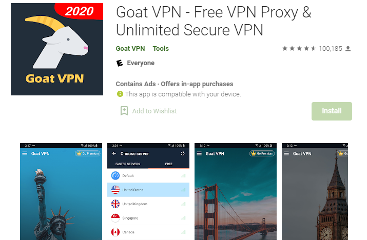 How To Download Goat VPN for PC